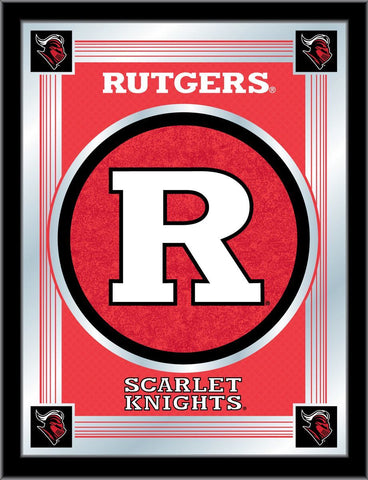 "Rutgers Scarlet Knights Holland Bar Stool Co. Collector Logo Mirror (17"" x 22"")"