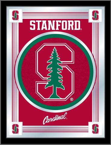 "Stanford Cardinal Holland Bar Stool Co. Collector Red Logo Mirror (17"" x 22"")"