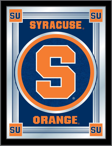 "Syracuse Orange Holland Bar Stool Co. Collector Blue Logo Mirror (17"" x 22"")"