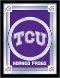 "TCU Horned Frogs Holland Bar Stool Co. Collector Purple Logo Mirror (17"" x 22"") - Sporting Up"