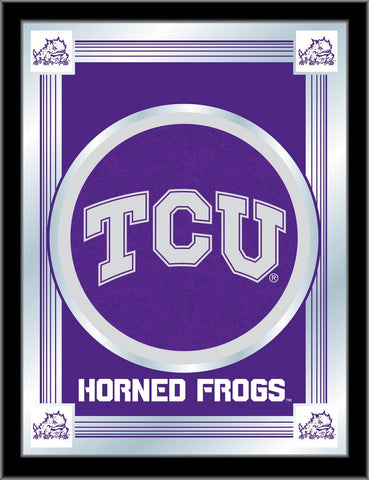 "Shop TCU Horned Frogs Holland Bar Stool Co. Collector Purple Logo Mirror (17"" x 22"") - Sporting Up"