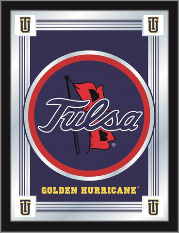 "Tulsa Golden Hurricane Holland Bar Stool Co. Collector Logo Mirror (17"" x 22"")"