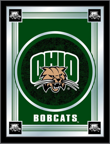 "Ohio Bobcats Holland Bar Stool Co. Collector Green Logo Mirror (17"" x 22"")"