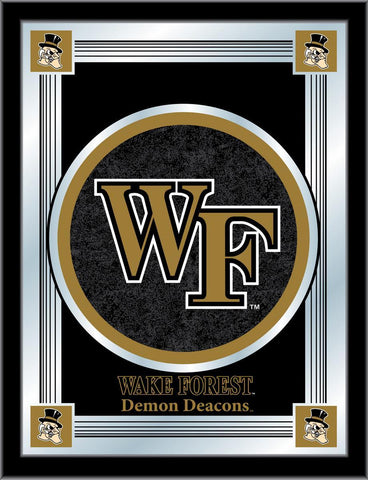 "Wake Forest Demon Deacons Holland Bar Stool Co. Black Logo Mirror (17"" x 22"") - Sporting Up"