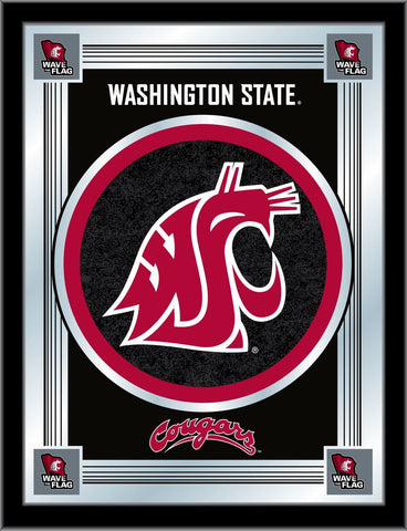 "Washington State Cougars Holland Bar Stool Co. Collector Logo Mirror (17"" x 22"")"