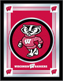 "Wisconsin Badgers Holland Bar Stool Co. Collector Red Logo Mirror (17"" x 22"")"