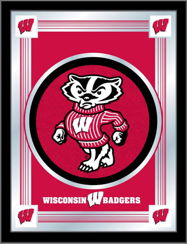 "Shop Wisconsin Badgers Holland Bar Stool Co. Collector Red Logo Mirror (17"" x 22"")"