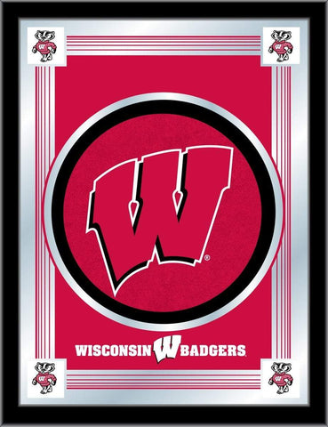 "Shop Wisconsin Badgers Holland Bar Stool Co. Collector ""W"" Logo Mirror (17"" x 22"")"