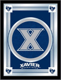"Xavier Musketeers Holland Bar Stool Co. Collector Blue Logo Mirror (17"" x 22"") - Sporting Up"