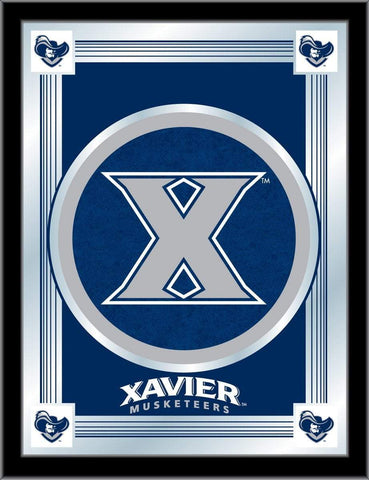 "Shop Xavier Musketeers Holland Bar Stool Co. Collector Blue Logo Mirror (17"" x 22"") - Sporting Up"
