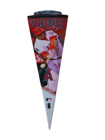 "Mike Trout Anaheim Angels Wincraft Collector Player Felt Pennant (12"" x 30"") - Sporting Up"