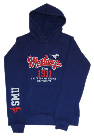 Southern Methodist SMU Mustangs Champion Youth Blue Hoodie Sweatshirt (M)
