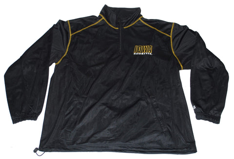 Shop Iowa Hawkeyes Badger Sport Mens Long Sleeve Black Jacket Pullover (L)