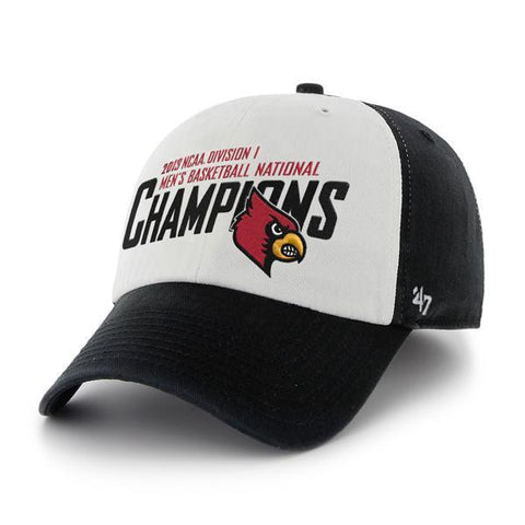 Shop Louisville Cardinals 2013 National Champs '47 Brand White Black Adj Hat Cap - Sporting Up