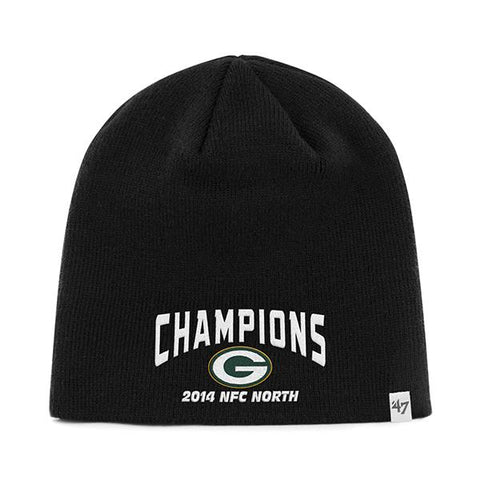 Shop Green Bay Packers 47 Brand 2014 NFC North Champions Black Hat Cap Beanie