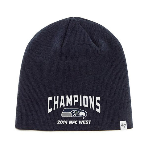 Shop Seattle Seahawks 47 Brand 2014 NFC West Champions Navy Hat Cap Beanie