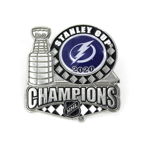 Tampa Bay Lightning 2020 NHL Stanley Cup Champions Aminco Trophy Lapel Pin