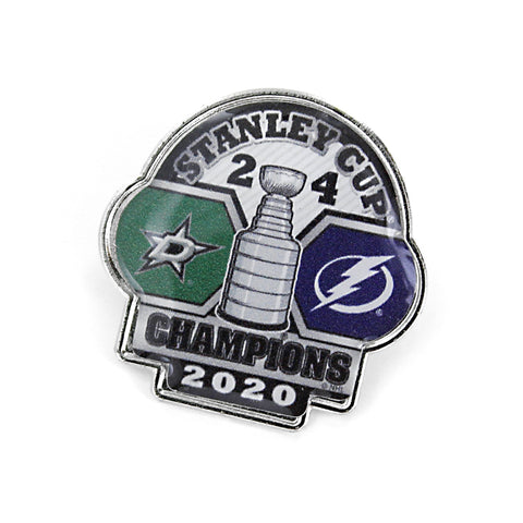 Tampa Bay Lightning 2020 NHL Stanley Cup Champions Aminco Game Score Lapel Pin