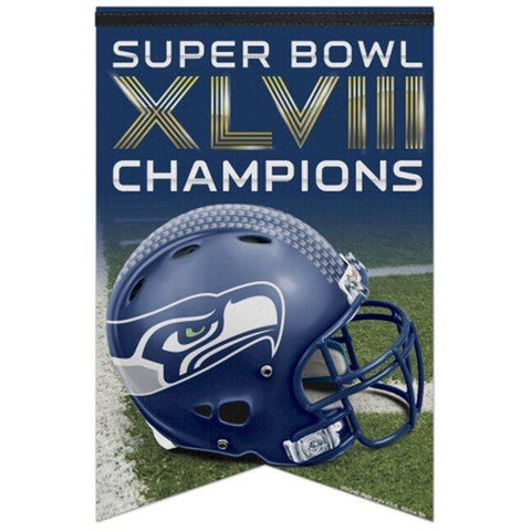 Shop Seattle Seahawks Super Bowl XLVIIII Champions 17'' x 26'' Premium Quality Banner - Sporting Up