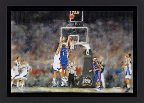 Shop Kansas Jayhawks 2008 NCAA National Champions Mario Chalmers 3.6 Oil Painting - Sporting Up