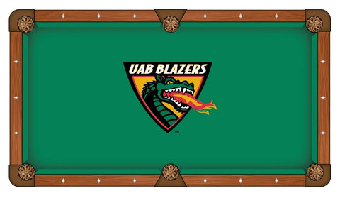 UAB Blazers HBS Green with Dragon Logo Billiard Pool Table Cloth