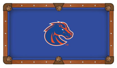 Boise State Broncos HBS Blue with Orange Logo Billiard Pool Table Cloth