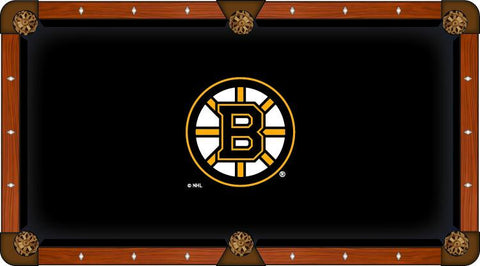 Boston Bruins Holland Bar Stool Co. Black Billiard Pool Table Cloth