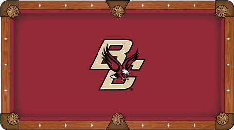 "Boston College Eagles HBS Red with ""BC"" Logo Billiard Pool Table Cloth"