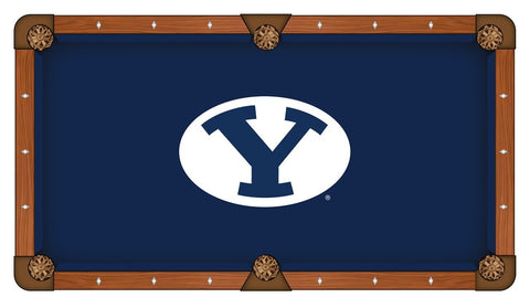 BYU Cougars HBS Navy with White Logo Billiard Pool Table Cloth