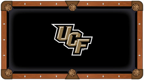 "UCF Knights HBS Black with ""UCF"" Logo Billiard Pool Table Cloth"