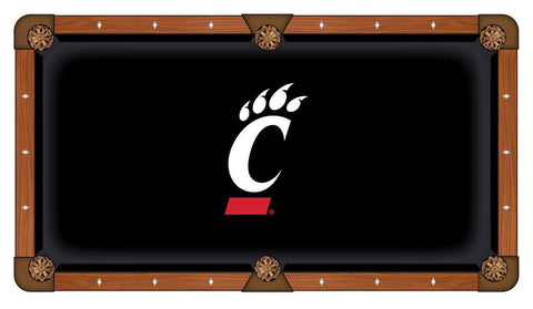 Cincinnati Bearcats HBS Black with White Red Logo Billiard Pool Table Cloth