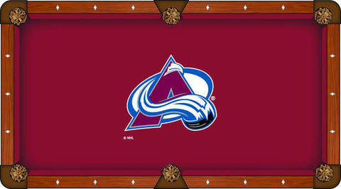 Colorado Avalanche Holland Bar Stool Co. Red Billiard Pool Table Cloth