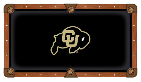"Colorado Buffaloes HBS Black with ""CU"" Logo Billiard Pool Table Cloth"