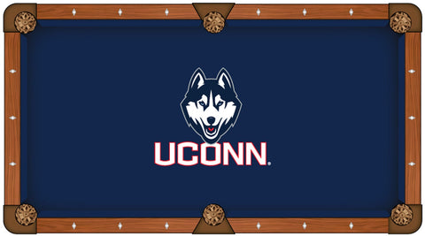 "Shop Connecticut Huskies HBS Navy with ""UCONN"" Logo Billiard Pool Table Cloth - Sporting Up"