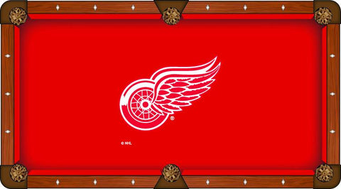 Detroit Red Wings Holland Bar Stool Co. Red Billiard Pool Table Cloth