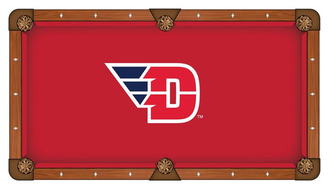 Dayton Flyers HBS Red with White & Navy Logo Billiard Pool Table Cloth