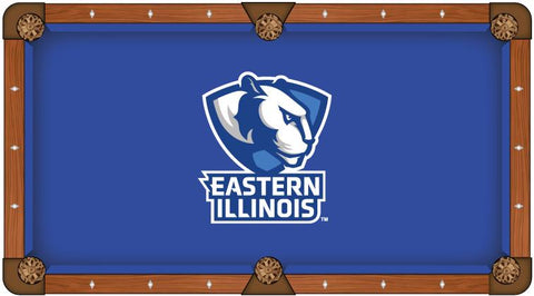 Eastern Illinois Panthers Blue with White Logo Billiard Pool Table Cloth