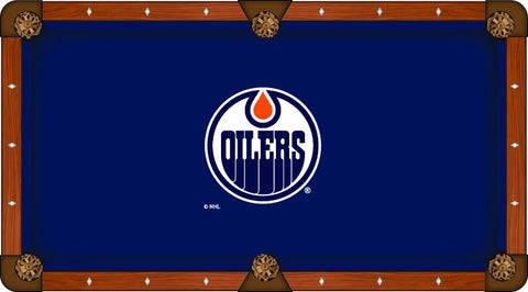 Edmonton Oilers Holland Bar Stool Co. Navy Billiard Pool Table Cloth