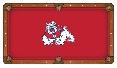 Shop Fresno State Bulldogs HBS Red with White Logo Billiard Pool Table Cloth - Sporting Up