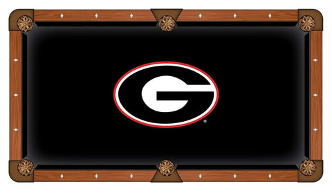 "Shop Georgia Bulldogs HBS Black with ""G"" Logo Billiard Pool Table Cloth - Sporting Up"