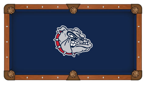Gonzaga Bulldogs HBS Navy with Bulldog Head Billiard Pool Table Cloth