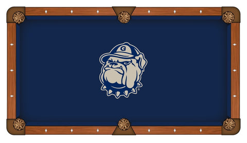 Georgetown Hoyas HBS Navy with Gray Logo Billiard Pool Table Cloth