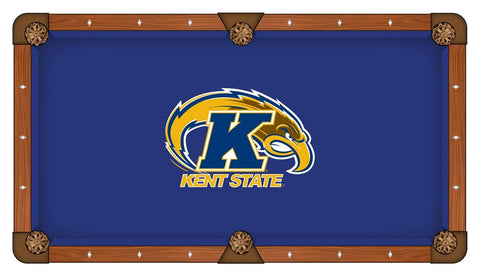 Kent State Golden Flashes Blue with Yellow Logo Billiard Pool Table Cloth