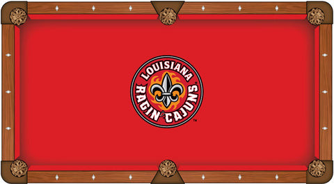 LouisianaLafayette Ragin Cajuns Red Circular Logo Billiard Pool - Circular pool table