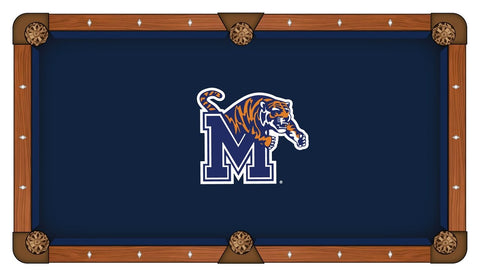 "Memphis Tigers HBS Navy with ""M"" Logo Billiard Pool Table Cloth - Sporting Up"
