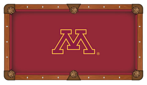 Minnesota Golden Gophers Red with Yellow Logo Billiard Pool Table Cloth