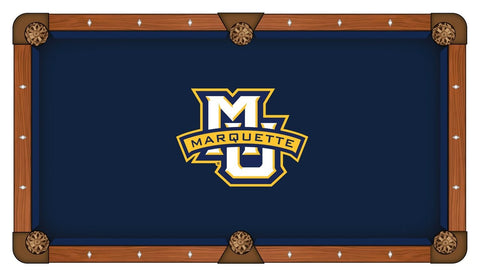 "Marquette Golden Eagles Navy with ""MU"" Logo Billiard Pool Table Cloth"