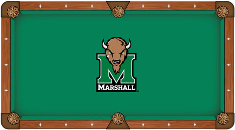 "Marshall Thundering Herd HBS Green with ""M"" Logo Billiard Pool Table Cloth"