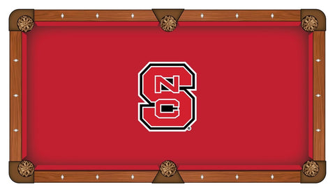 NC State Wolfpack HBS Red with White & Black Logo Billiard Pool Table Cloth