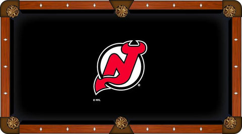 New Jersey Devils Holland Bar Stool Co. Black Billiard Pool Table Cloth
